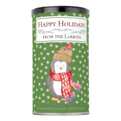 Winter Penguin Personalized Hot Chocolate Hot Chocolate Drink Mix    Winter Penguin Personalized Hot Chocolate Hot Chocolate Drink Mix