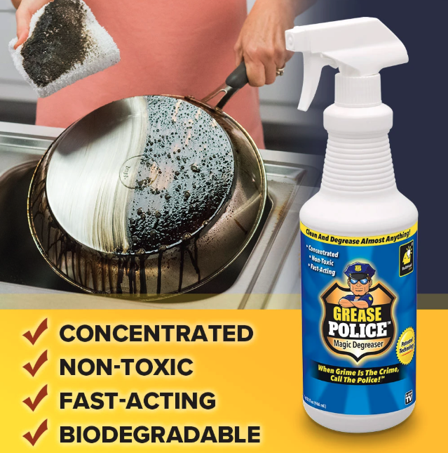 Grease Police Magic Degreaser 2 Pack Degreasers Grease Toxic Cleaning Products