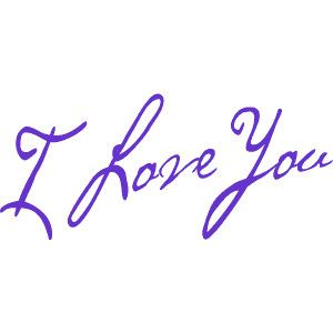 I Love You Word Art Wedding Bridal Shower Or Valentine Clip