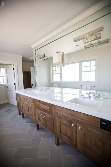 Herringbone Floor Pattern Slate Bathroom Grey Bathroom