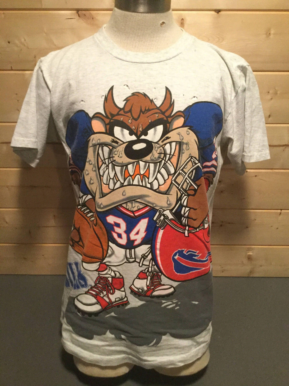 Vintage 1990 s Taz Looney Tunes Buffalo Bills Thurman Thomas Football Made  in USA T-Shirt by 413productions on Etsy 7d24b154f