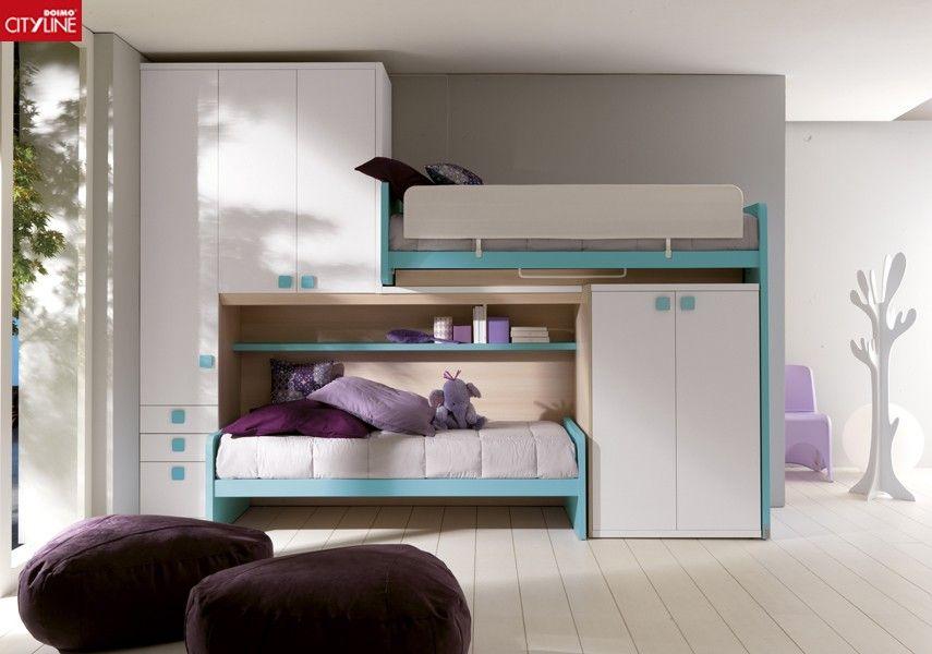 Composición #dormitorio para #jóvenes y #niños- Doimo Cityline ...