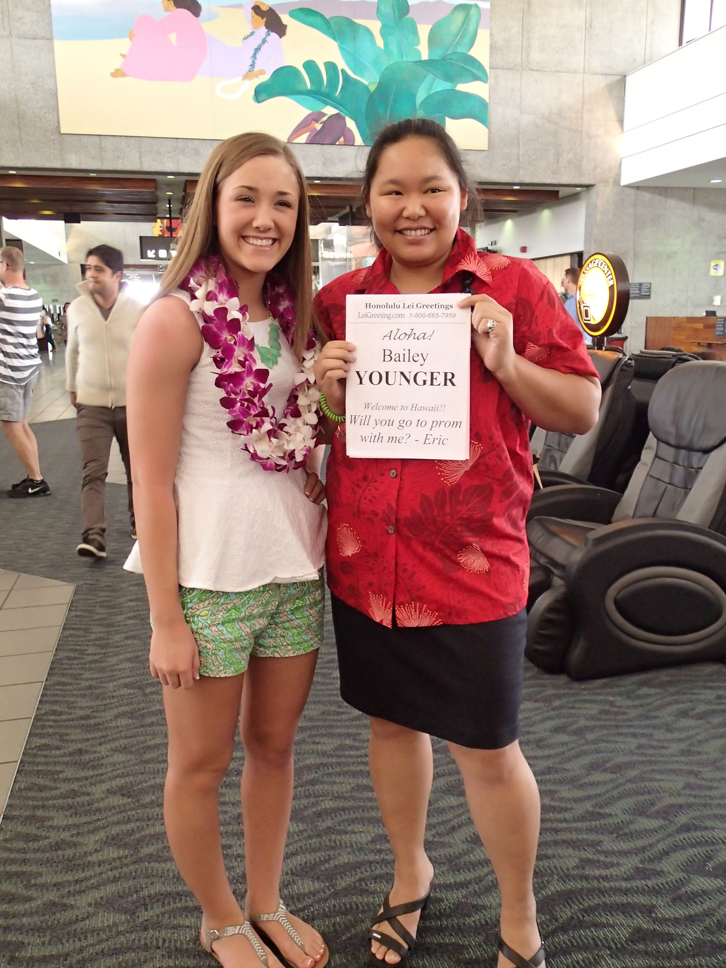 A Gorgeous Pair Of Double Orchid Leis At The Honolulu International