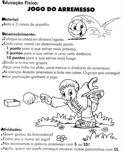 Educacao Fisica 45 Atividades Exercicios Desenhos Colorir