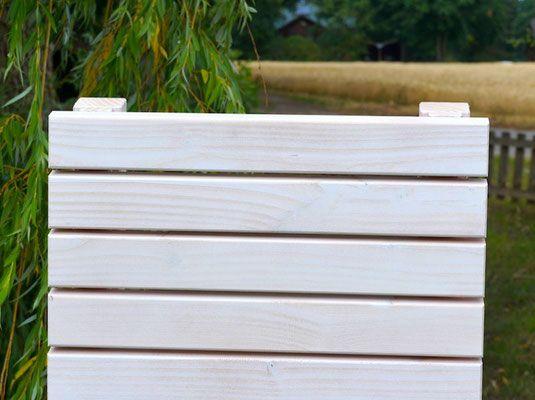 Sichtschutz / Rankgitter / Spalier Holzweise Idee
