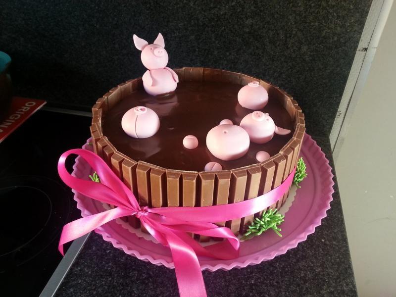 Schweinchen Im Schlamm Torte Noch Besser Mit Duplo Oder Yogurette