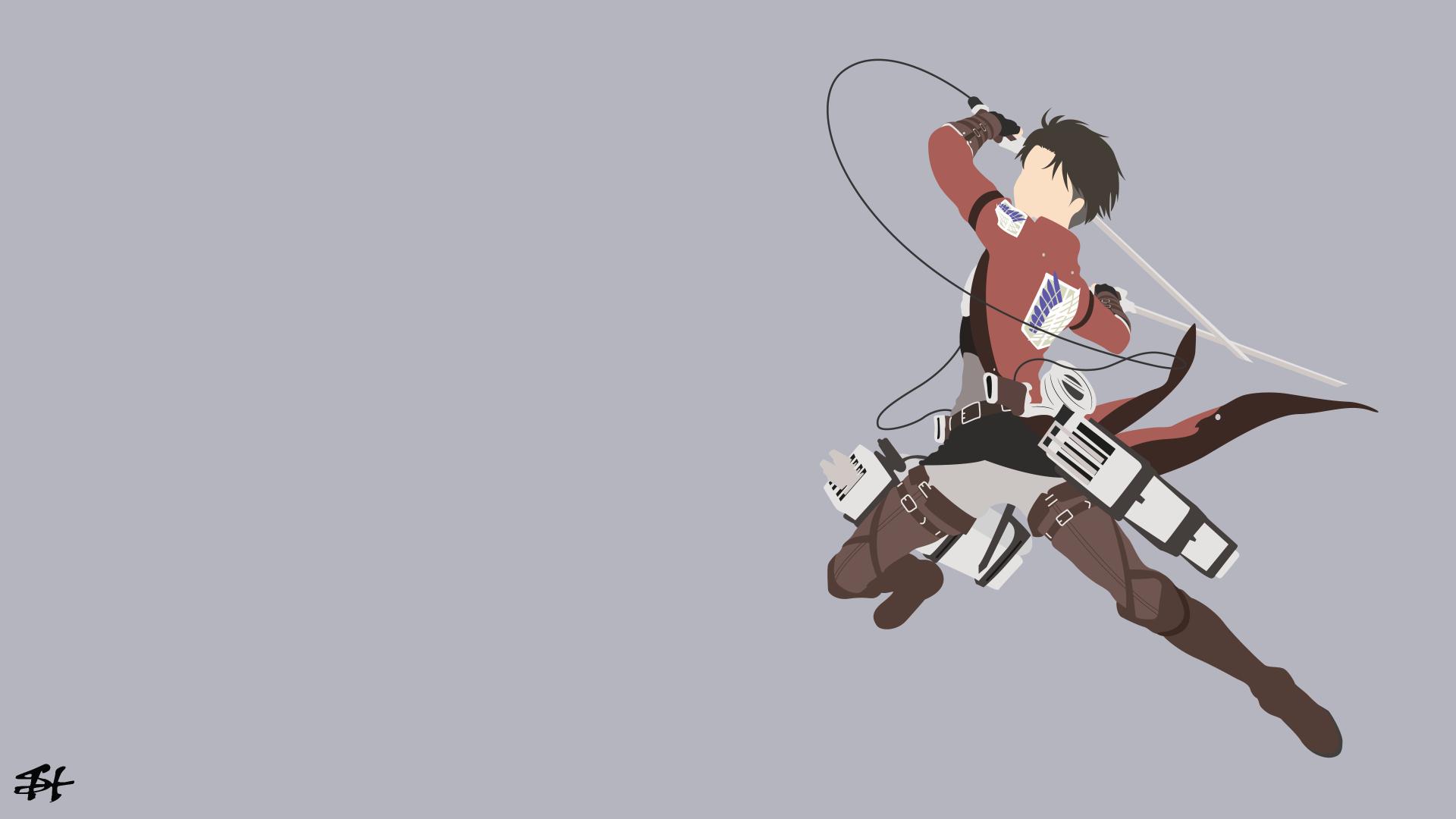 Attack on titan · eren yeager · minimalist; Anime Attack On Titan Levi Ackerman Wallpaper   Minimalist ...