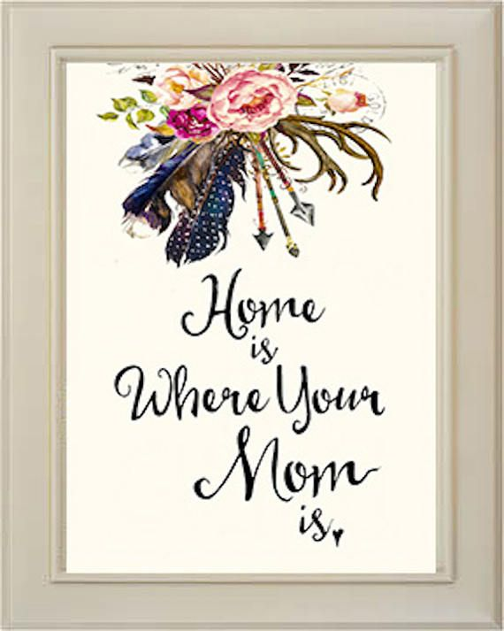 Home Is Where Your Mom Is, Mother Gifts, Love Mom, Mothers Day Gift ...
