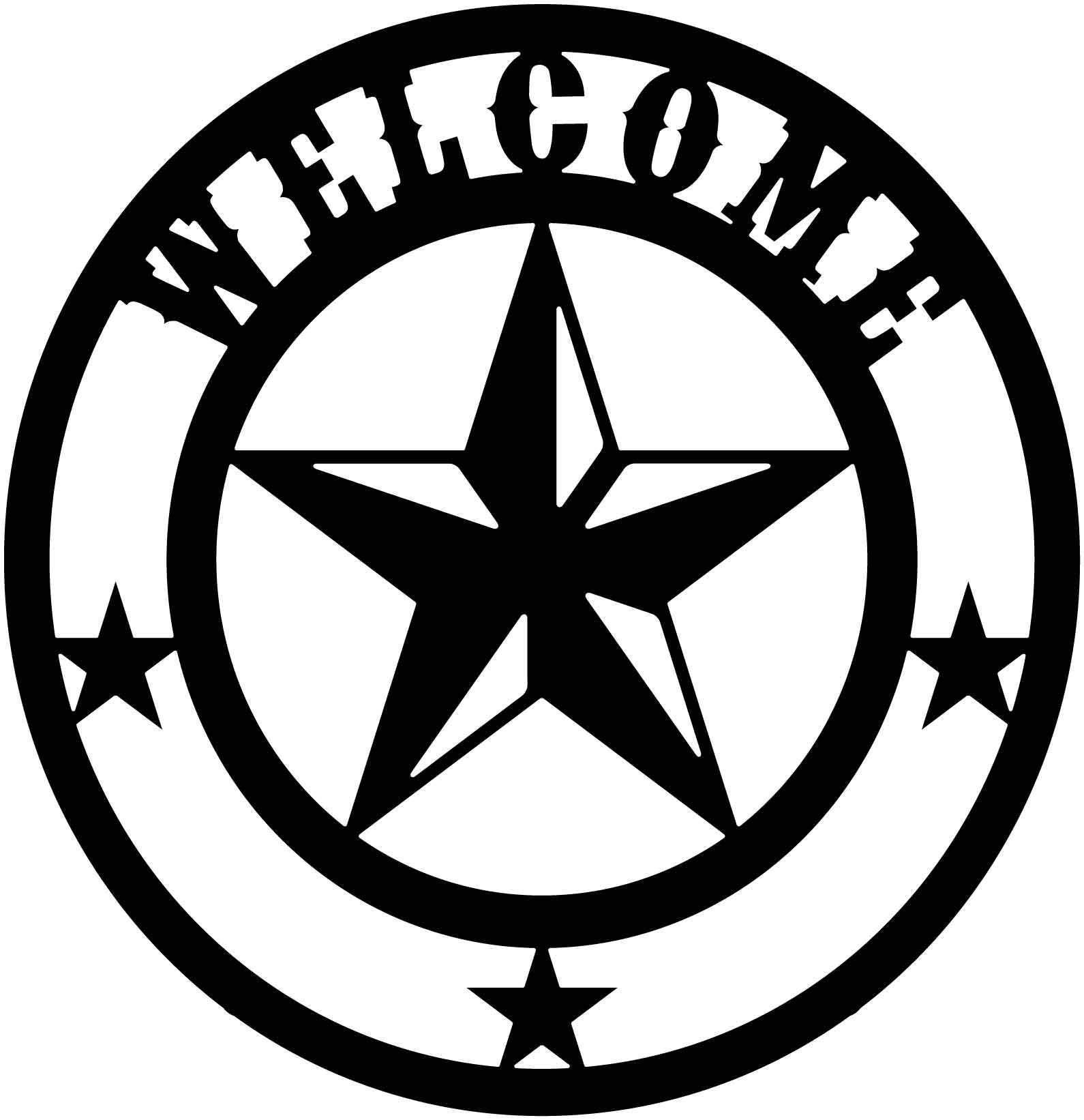 Texas Star Free DXF file Texas star, Metal tree