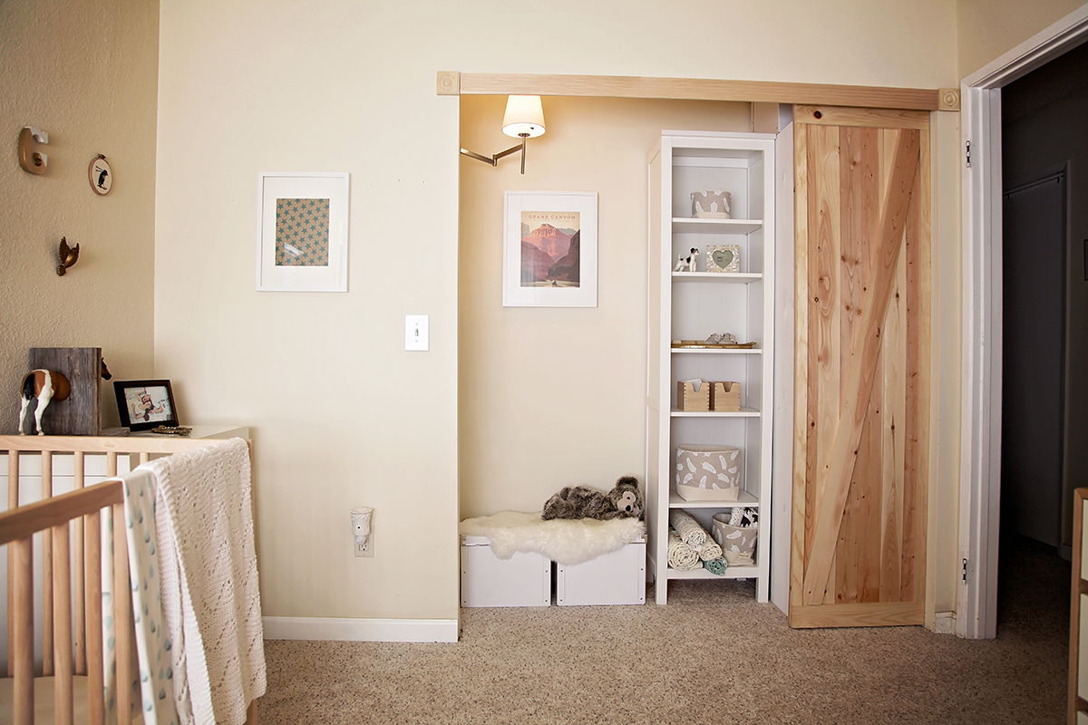 remodelaholic closet into featured how on doors door bypass faux barn for make sliding to