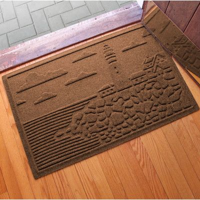 Bungalow Flooring Aqua Shield Lighthouse Cove Doormat Color: Dark Brown