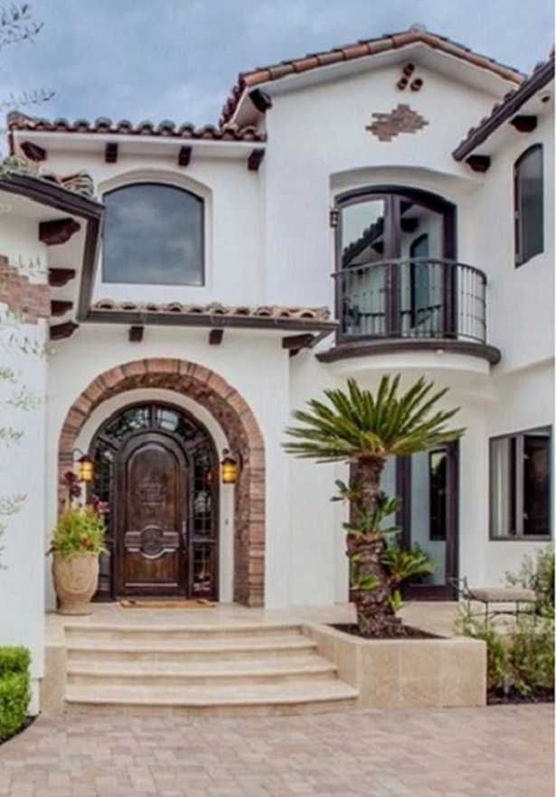 Beachfront Luxury Modern Home Exterior At Night: Spanish House, House Exterior, Spanish Revival Home