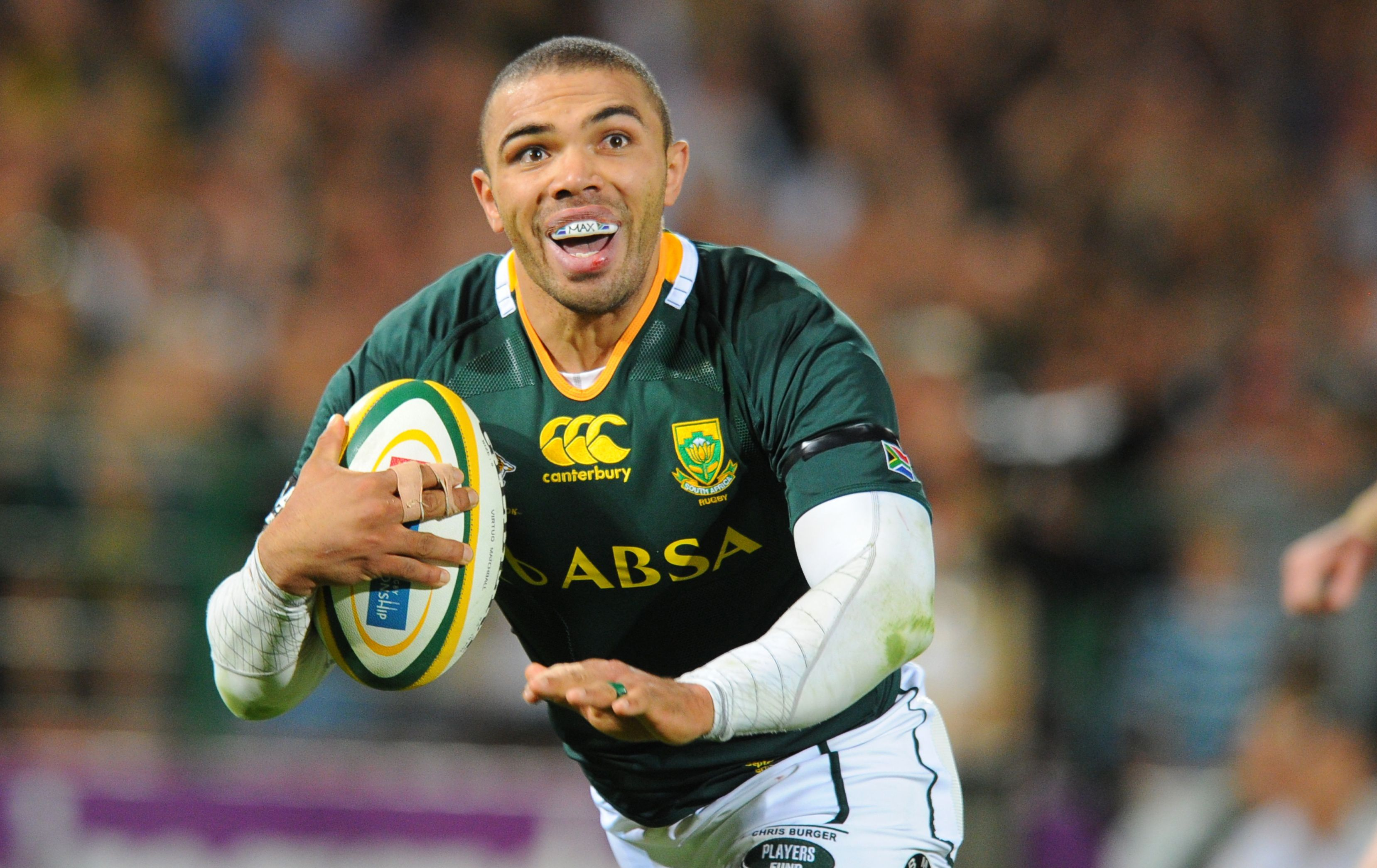 Bryan Habana Coloured Orld Class Rugby Player From South Africa Rugby Players South African Rugby World Rugby