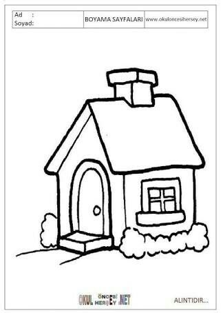Pin By Gül Dinçer On E Sesi House Colouring Pages Family Coloring
