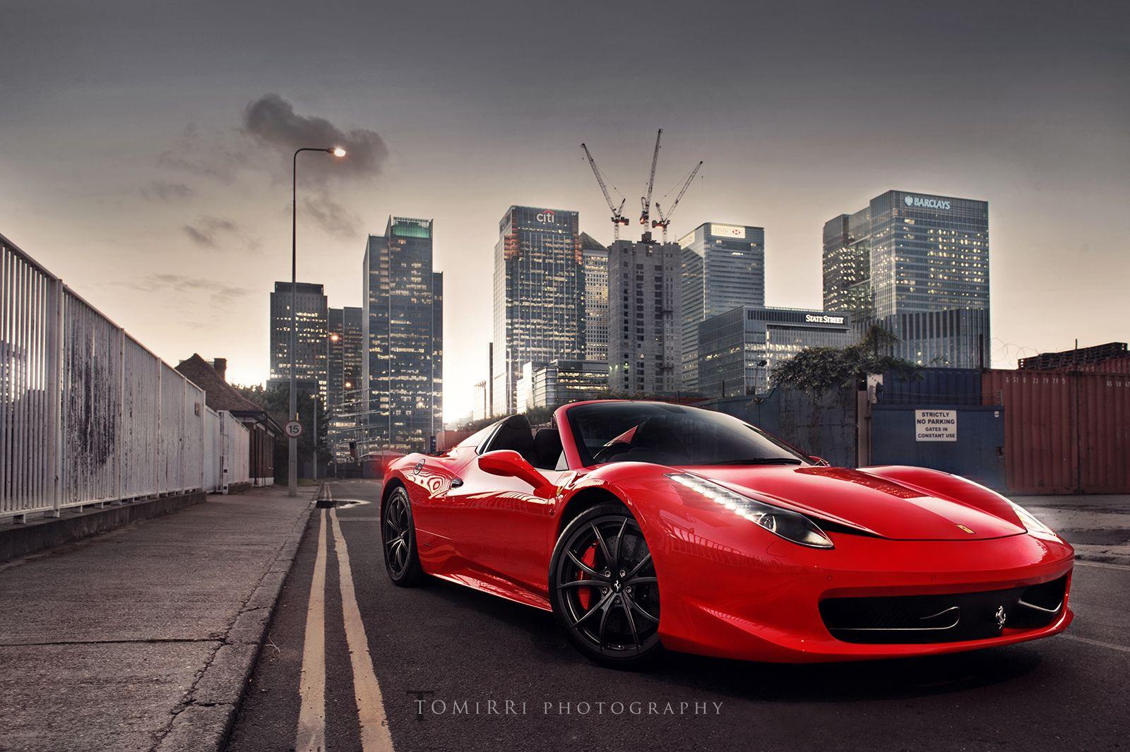 Red Ferrari 458 Italia By Tomirri Photography 1600px Wallpaper