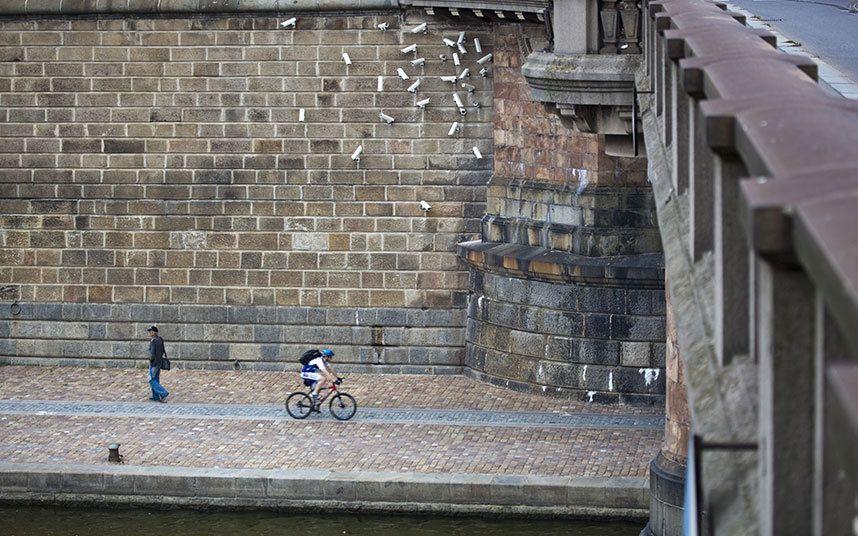 'Nest' art installation series by Jakub Geltner, in
