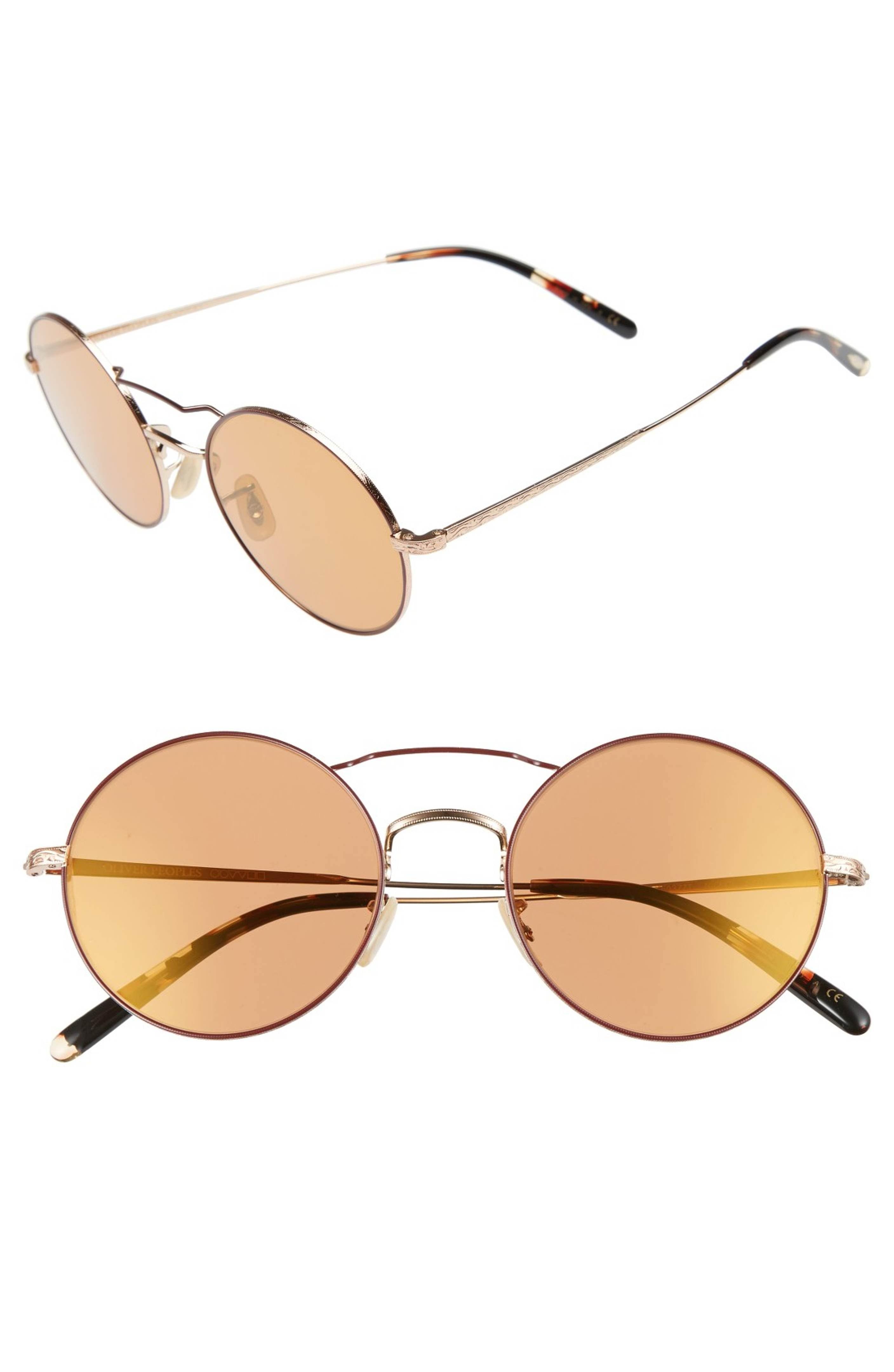 2087d7c85ed Main Image - Oliver Peoples Nickol 53mm Round Sunglasses