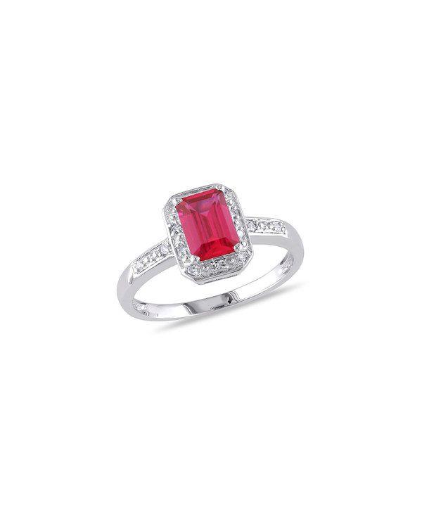 Loving this Ruby & Diamond Emerald-Cut Ring on #zulily! #zulilyfinds