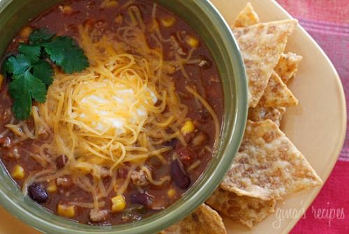 Turkey Chili Taco Soup - This soup is a super easy to make and is ready in less than 20 minutes. (repin? I just do not want to miss it!)
