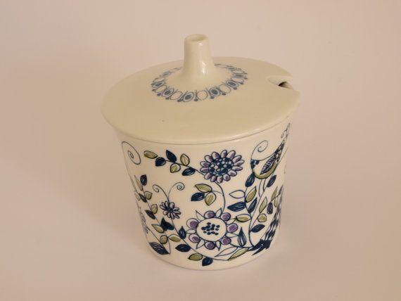 Figgjo Lotte Turi Danish Sugar Bowl/Sugar Dish Made by FunkyKoala & Vintage Retro Figgjo Lotte Turi Danish Sugar Bowl/Sugar Dish - Made ...