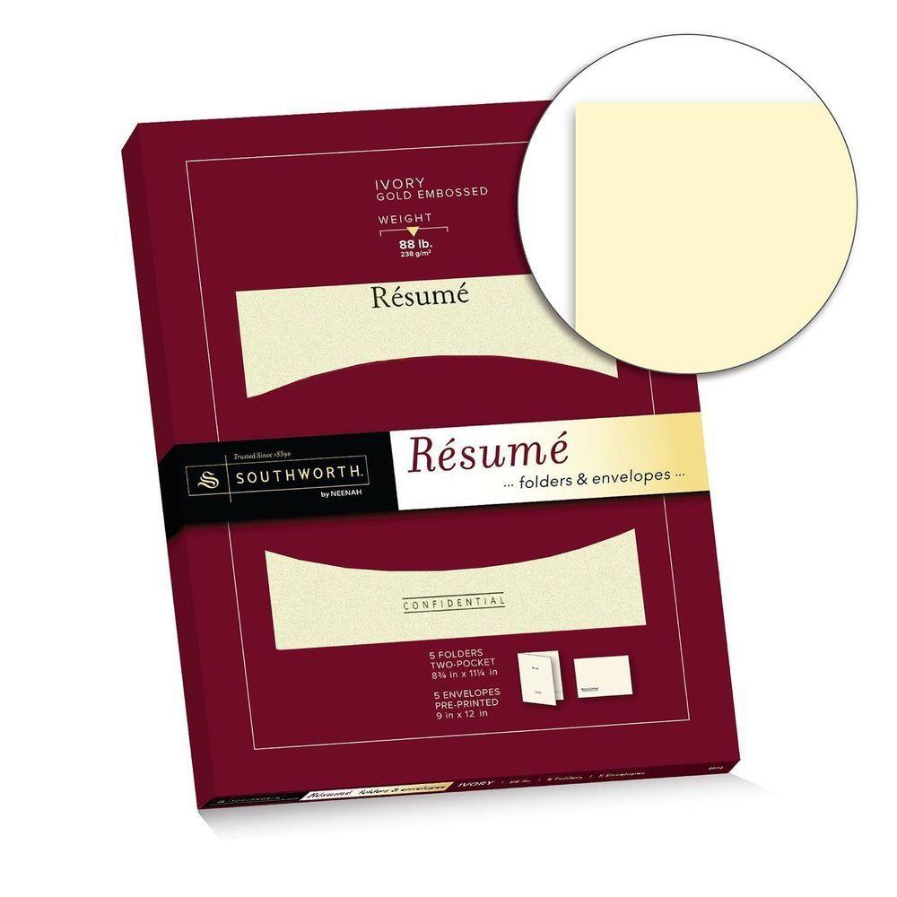 Southworth Resume Folders Envelopes 9 x 12