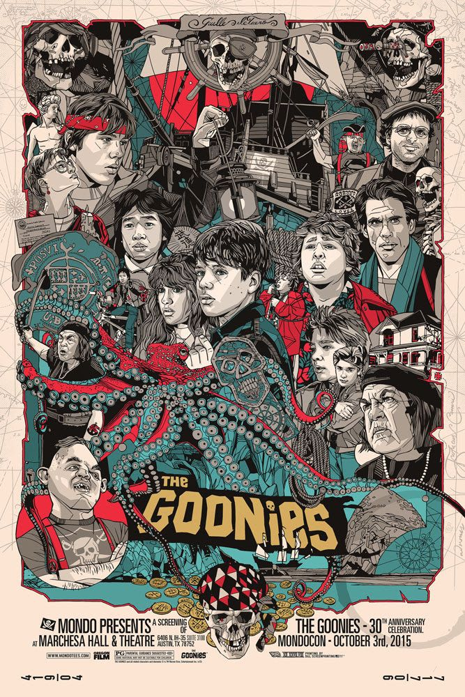 The Geeky Nerfherder: Cool Art: 'The Goonies' & 'Batman' Prints From Mondo