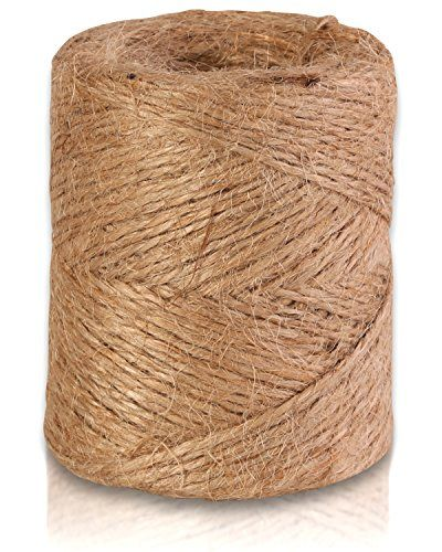 Natural Jute Twine 300Feet Best Arts  Crafts Gift Durable String For Gardening Applications Heavy Duty For Industrial Packing Materials 3Ply *** Find out more about the great product at the image link.