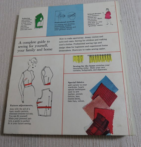 better homes and gardens sewing ring bound book 1970 vintage junk