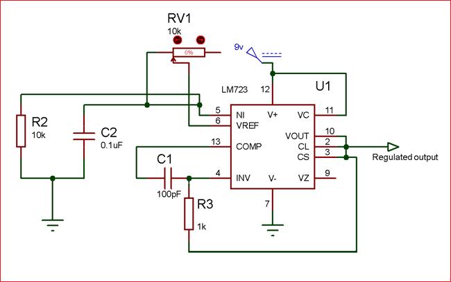 circuit using lm723 voltage regulator ic arduino, raspberry picircuit using lm723 voltage regulator ic