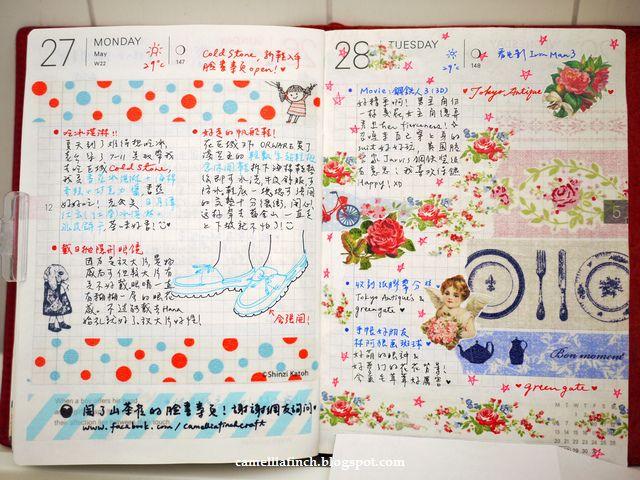 Hobonichi Planner 手帳2013/5月