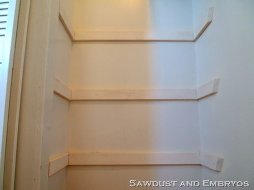 I Can Do This Add Shelving Above The Cut Off Pipe All Things Thrifty Blog Guest Post How To Build Your Own Custom Closet