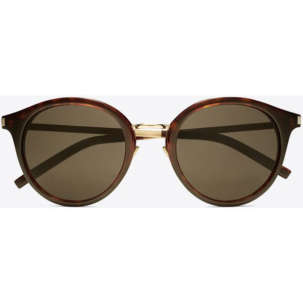 d5bf7004a51 Saint Laurent Classic 57 Sunglasses (500 AUD) ❤ liked on Polyvore featuring  accessories, eyewear, sunglasses, round lens sunglasses, yves saint laurent  ...