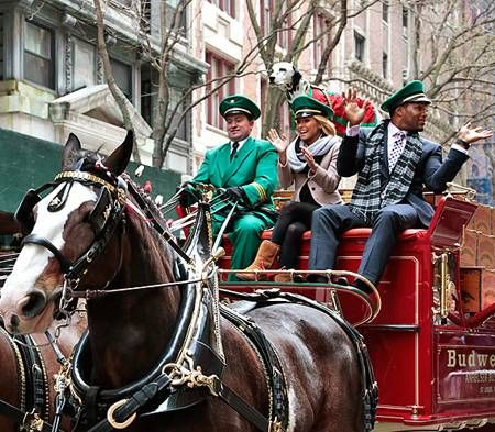 Kelly Ripa and Michael Strahan when all Clydesdales this morning -- and took a ride with Budweiser!