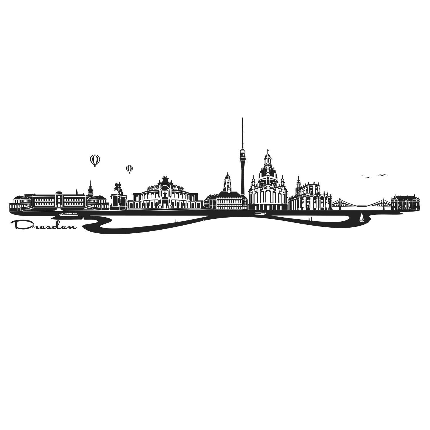Wandtattoo Skyline Dresden | Tattoo | Pinterest | Skyline, Dresden ...