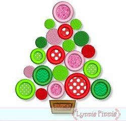 Polka Dot Tree Applique - 4 Sizes! | Christmas | Machine Embroidery Designs | SWAKembroidery.com Lynnie Pinnie
