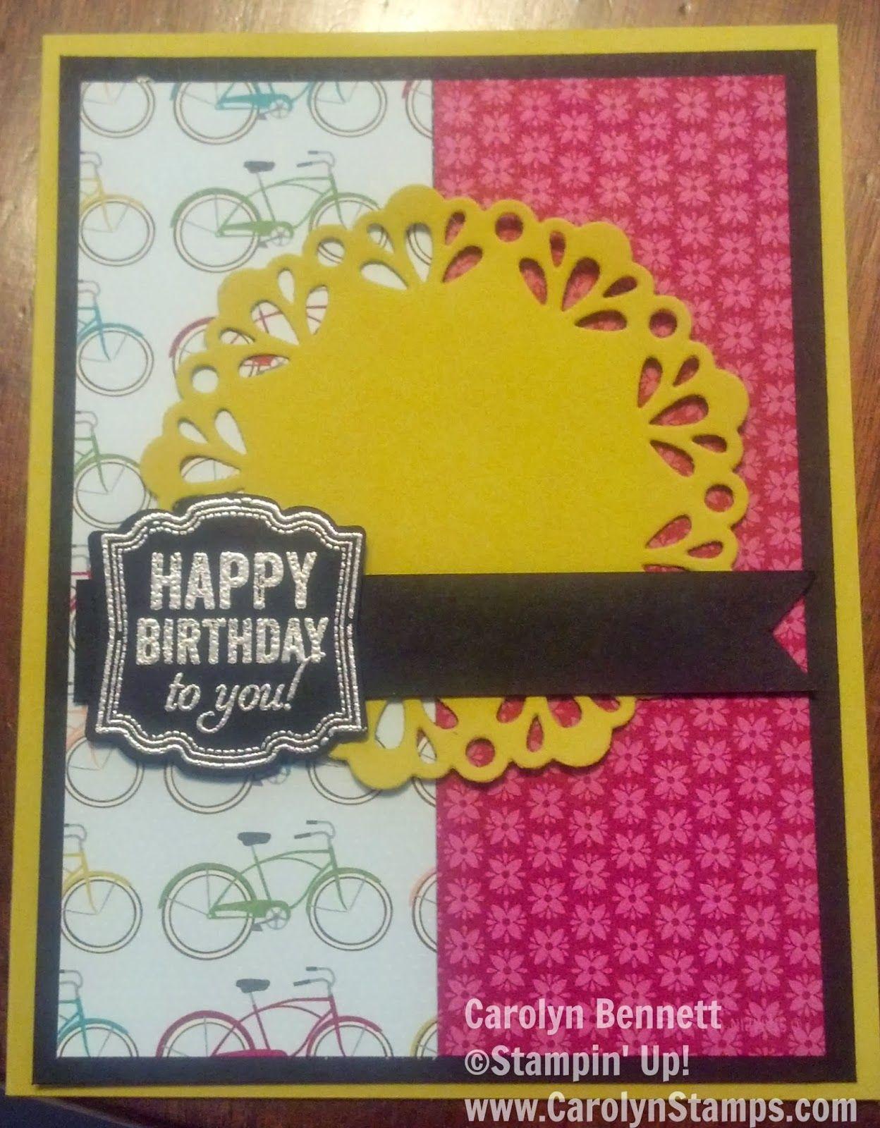 Carolyn's Paper Fantasies: Label Love Birthday - TSSC304 Sketch Challenge Carolyn Bennett Stampin' Up!