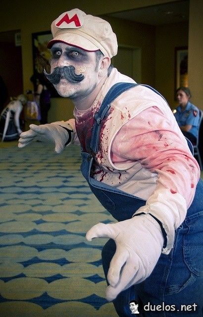 Zombie Mario - my son would LOVE this!