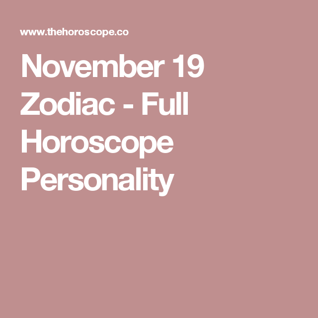 scorpio horoscope november 19