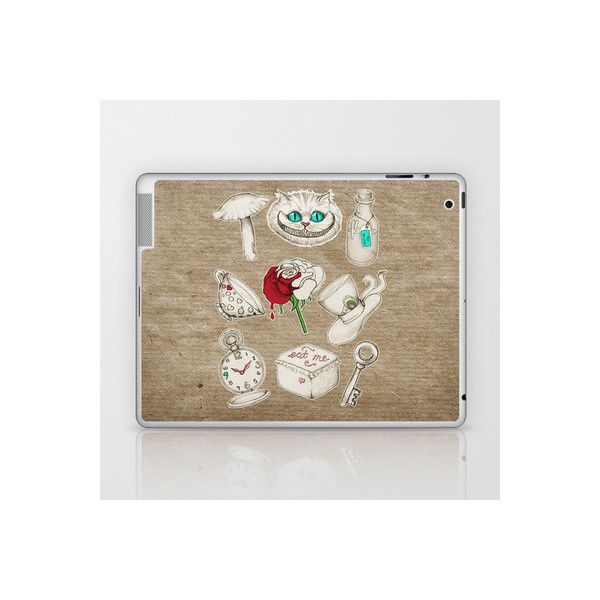 Things you'll find in Wonderland Laptop & iPad Skin by micklyn  ... via Polyvore