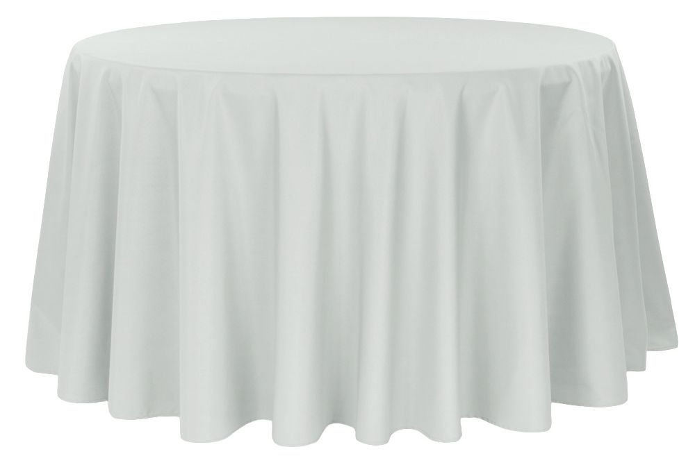 Economy Polyester Tablecloth 132 Round Gray Silver Round Tablecloth Wholesale Tablecloths 120 Round Tablecloth