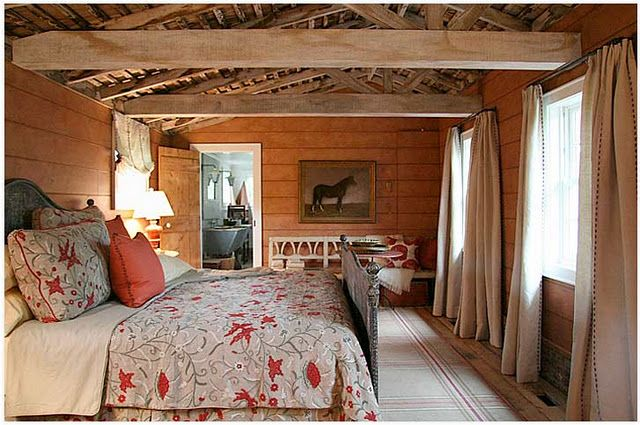"Love the ""barn"" bedroom"