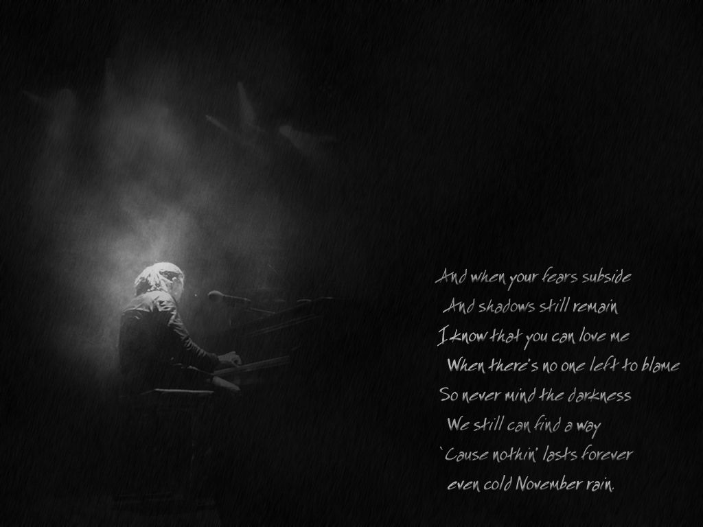 November Rain American Hard Rock Music Band Song Lyrics Poster Guns N/' Roses