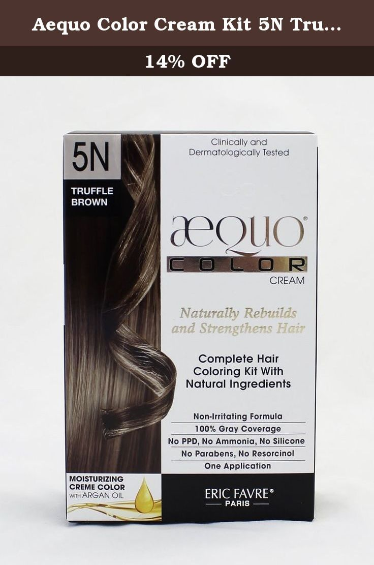 Aequo Color Cream Kit 5N Truffle Brown. The concentration of natural ...