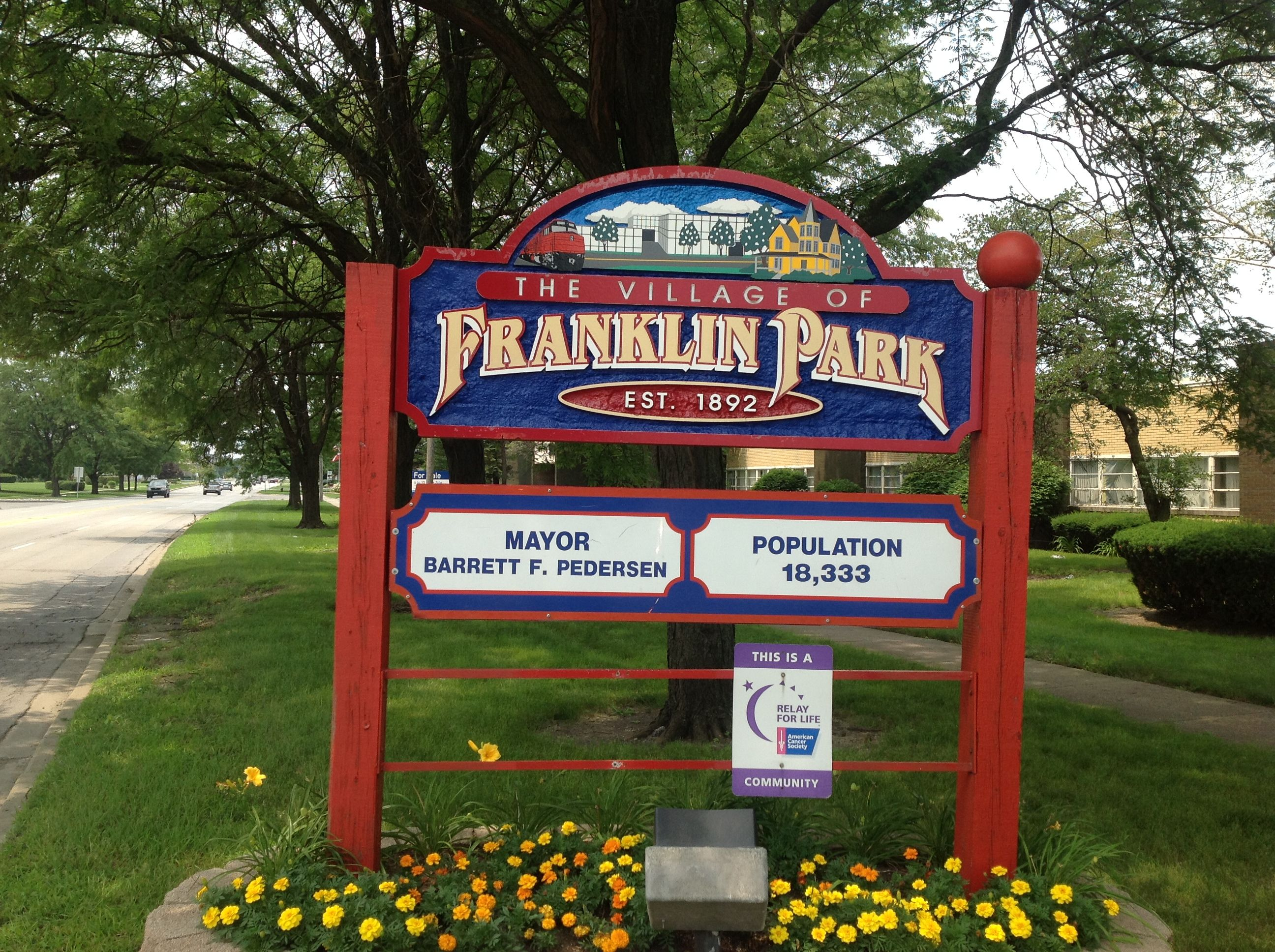 Franklin Park Village Sign Real Estate Appraisals In Chicago