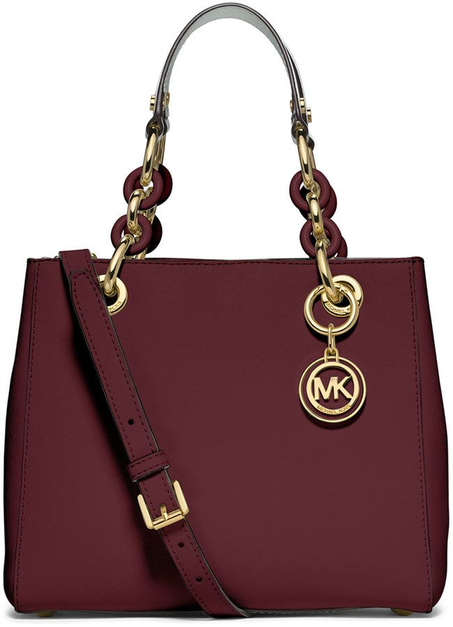 69b0126ac5ab MICHAEL Michael Kors Cynthia Small North-South Satchel Bag, Merlot ...