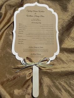 Rustic Wedding Programs At Fans