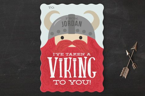 Viking to You Classroom Valentine's Cards by Itsy Belle Studio at minted.com