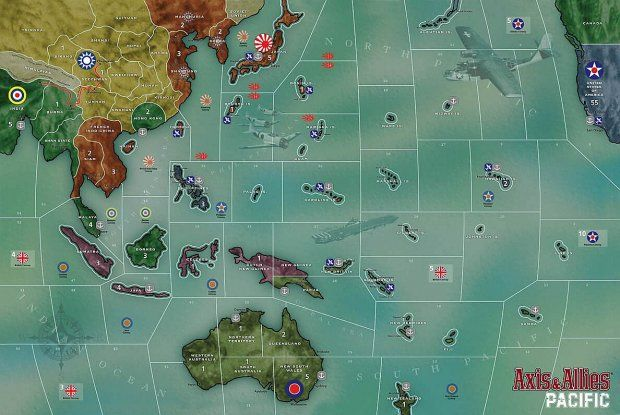 Axis And Allies Pacific Map Axis and Allies: Pacific | Games | Games