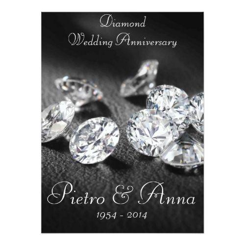60th Diamond Wedding Anniversary Invitation Zazzle Com Diamond