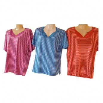 d0f06af1bc2a Γυναικείες καλοκαιρινές μπλούζες φαρδιά γραμμή Μεγέθη M-XXL σε διάφ ...